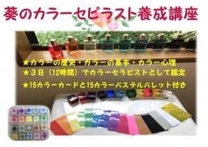 カラーセラピストセミナーA4